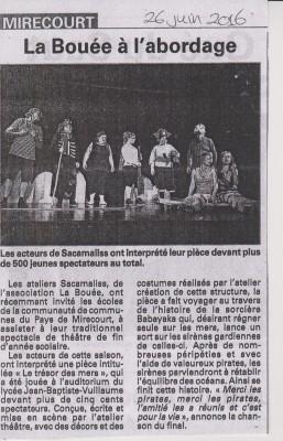 """Les participants de l'atelier théâtre de """"Sacamaliss"""" présentent leur pièce """"le trésor des Mers"""""""